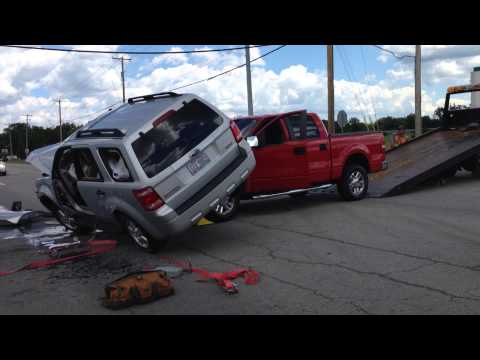 All four wheels back on the ground following two-vehicle crash in Perkins Township.