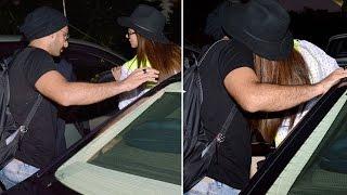 Deepika Padukone KISSES Ranveer Singh CAUGHT KISSING at airport