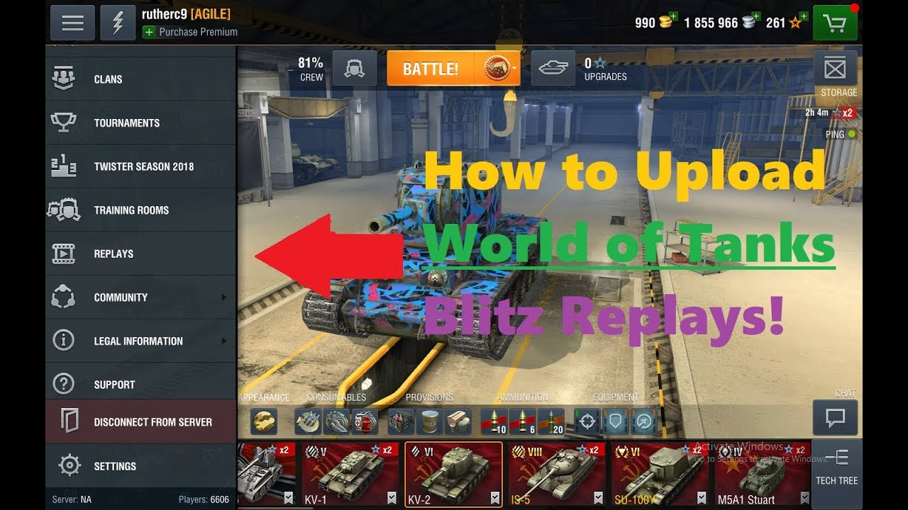 How to Upload World of Tanks Blitz Replay Files!