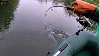 В эту погоду у рыбы жор! Неожидал поймать его. Рыбалка на спиннинг в дождь 2021.