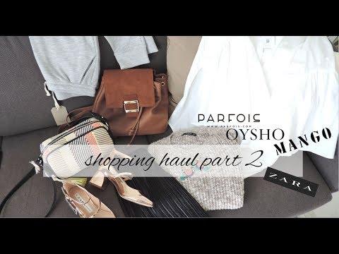 SHOPPING HAUL 2 - PARFOIS, ZARA, OYSHO   BALLERINES JOURNAL