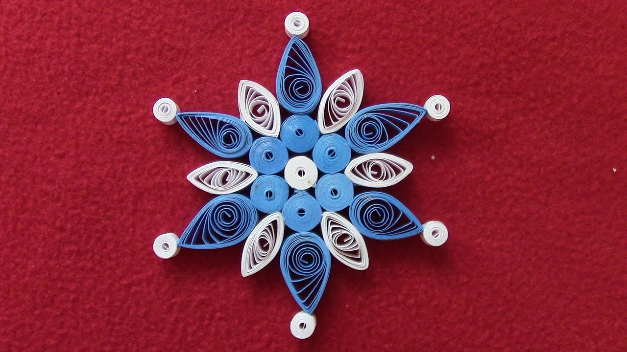 Quilling Snowflakes Tutorial Christmas Ornament