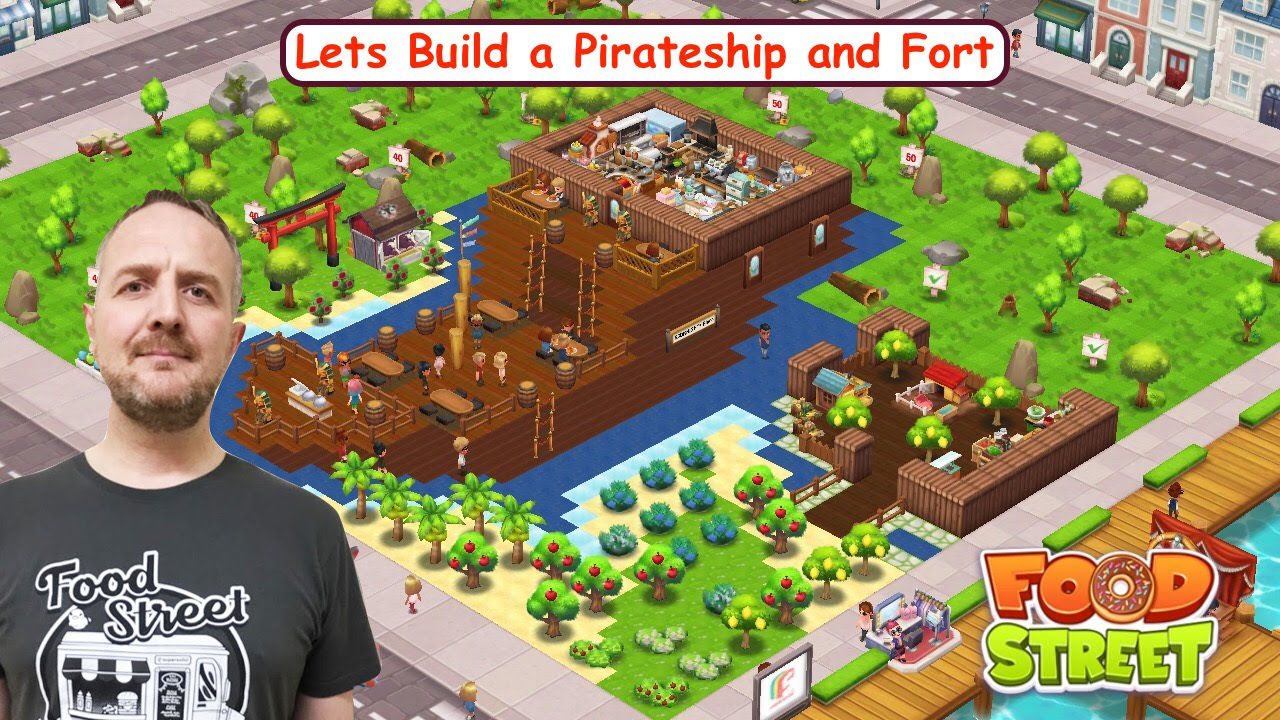 Food street build a pirate ship and fort youtube