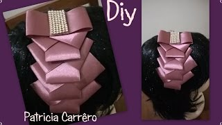 tiara com lao de fita headband with ribbon