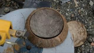 Cara Membuat Asbak Unik yang Dari Bahan Batok Kelapa part 1
