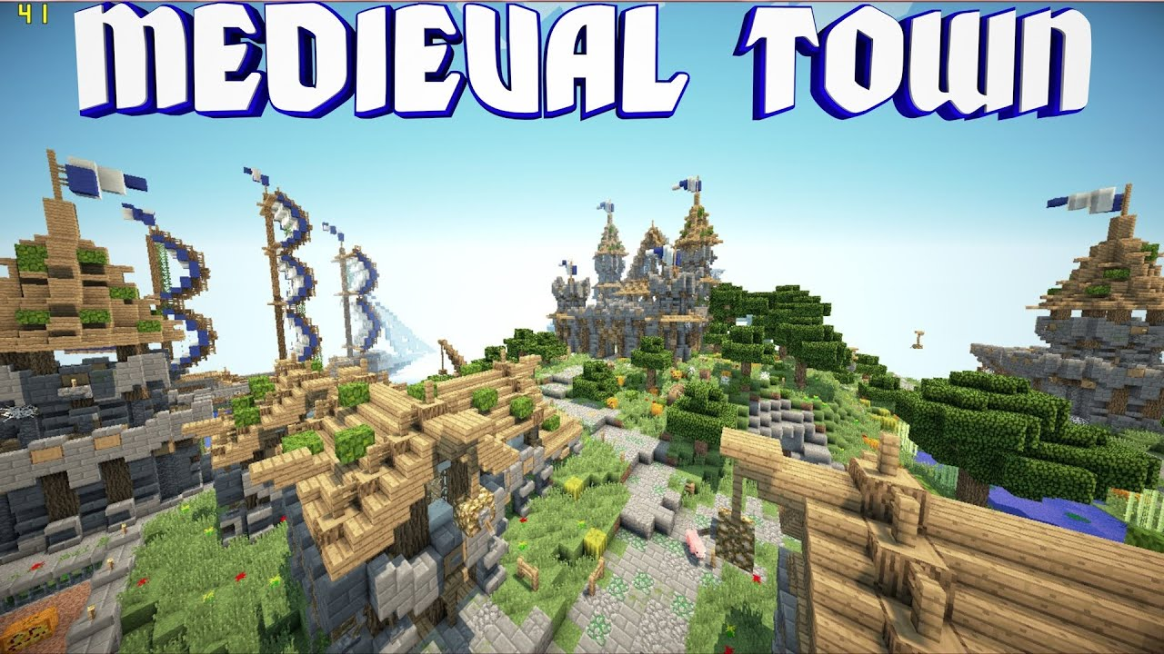 Minecraft Pe Custom Map Medieval Town