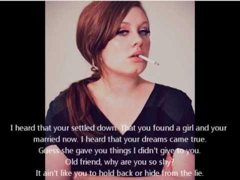 Adele Someone Like You (Acoustic w/ Lyrics)