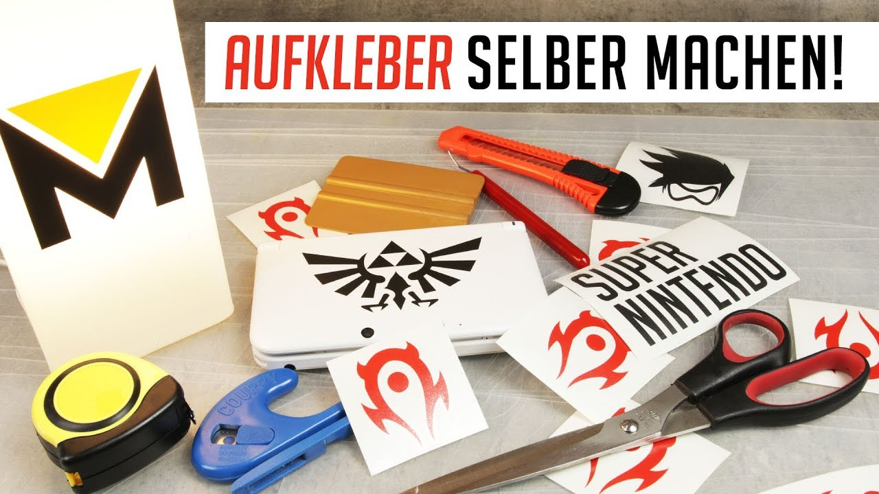 aufkleber selber machen tutorial youtube. Black Bedroom Furniture Sets. Home Design Ideas
