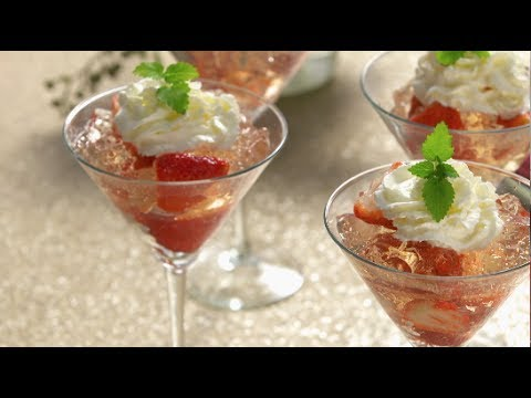 Sparkling Rosé and Strawberry Gelatin - Good Food Fast