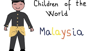 How to draw a Malaysian boy,children of the world Malaysia,children songs,traditional costumes