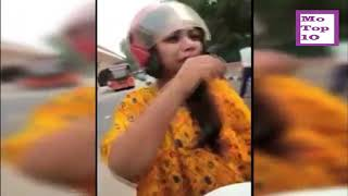 YOUNG GIRL FUNNY FIGHT WITH TRAFFIC POLICE | FUNNY VIDEO