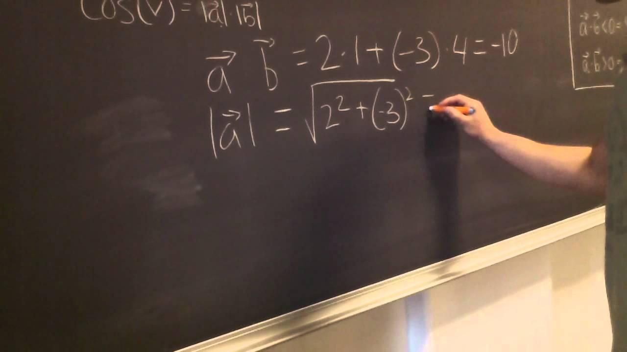 Vinkel med to vektorer - gruppe 4
