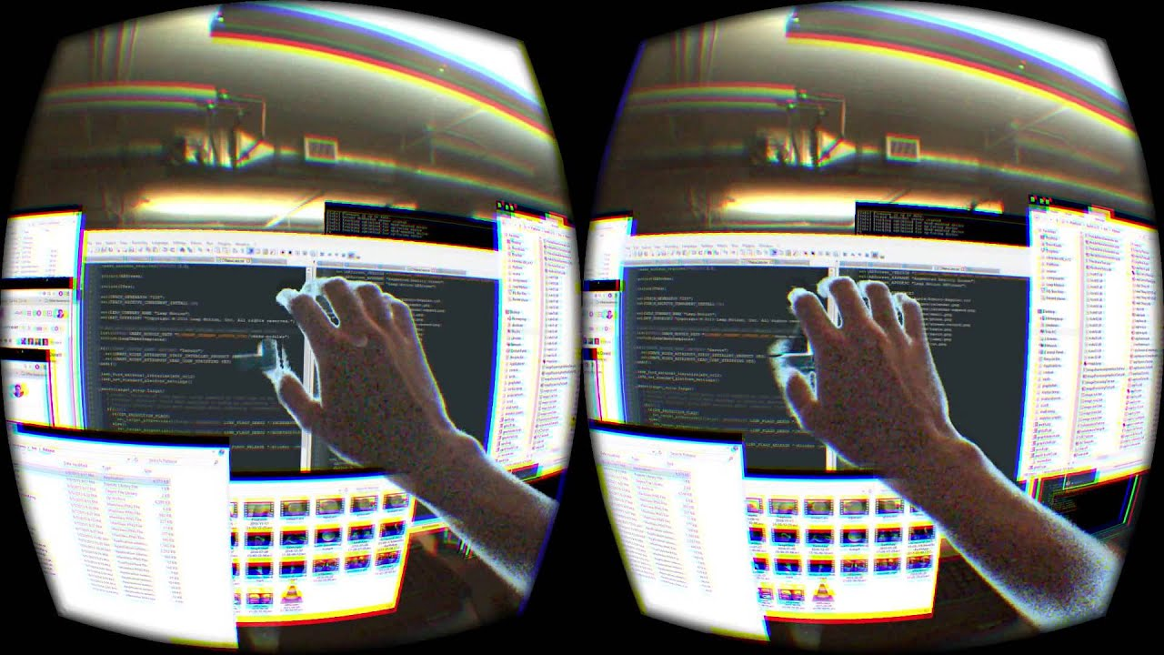 The Leap Motion Hackathon's Augmented Reality Workspace