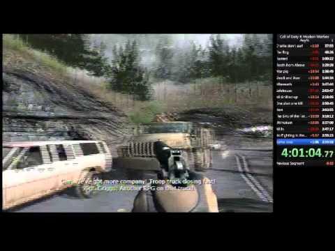 call of duty 4: modern warfare second speed run attempt