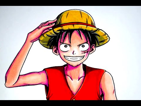 C mo dibujar a luffy de one piece como dibujar anime for Dibujos one piece