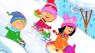 Жила-была Царевна - Шапку долой!  Веселые мультики для детей ❄ Зимняя серия thumbnail