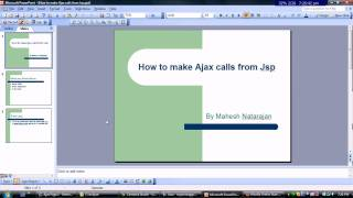 How to make Ajax calls from Jsp