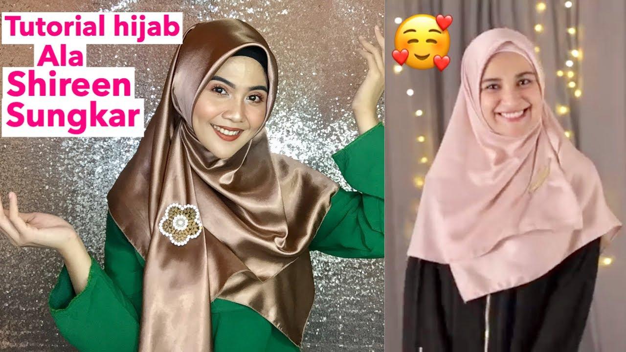 Tutorial Hijab Segi Empat Menutup Dada Ala Shireen Sungkar Versi Syar I Youtube