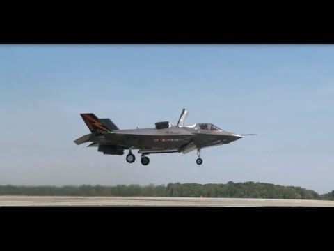 F35 vertical take off and landing in HD
