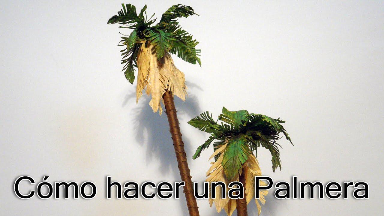 C mo hacer una palmera youtube - Como hacer una palmera artificial ...