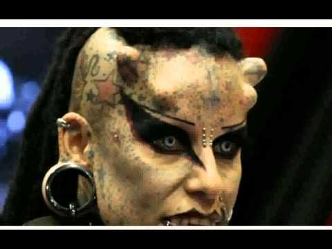 Woman with horns  Pictures
