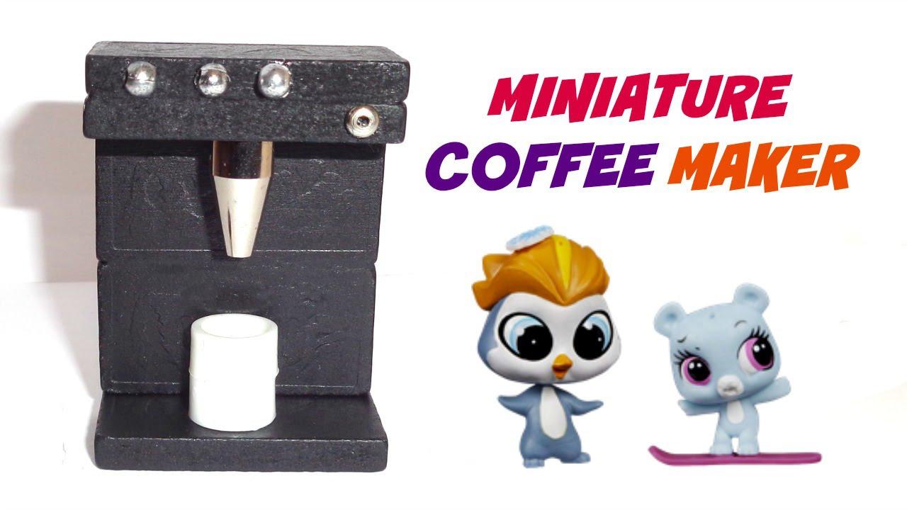 Diy Dollhouse Miniature Coffee Maker Youtube