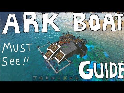 ARK: Raft Building, deadly PvP light carrier, best motorboat tutorial, unmodded