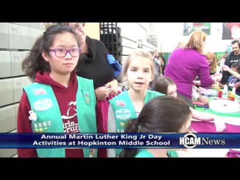 Martin Luther King Jr Day Activities at Hopkinton Middle School 1-16-2017