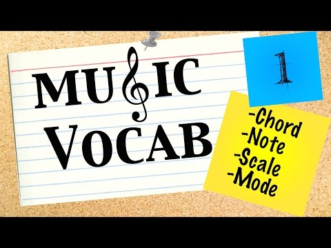 Music Vocab 1: Notes, Chords, Scales and Modes