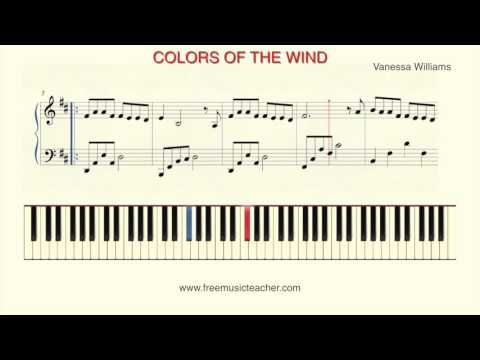 "How To Play Piano: ""Colors of the Wind""  by Vanessa Williams"