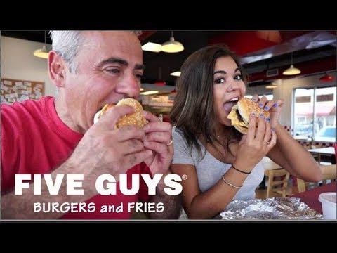 Five Guys Mukbang w/ Steph Pappas (In Restaurant!)