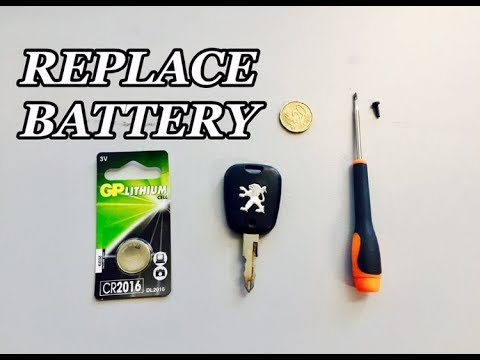 How To Replace The Battery In Your Peugeot Key Fob 206,307,306,406