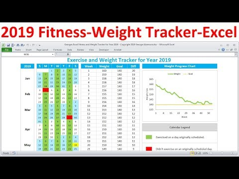 fitness-tracker-and-weight-loss-tracker-for-2019---workout-planner-weight-tracker---excel-template