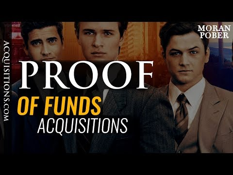 What To Do When Asked For Proof Of Funds? Business Acquisitions