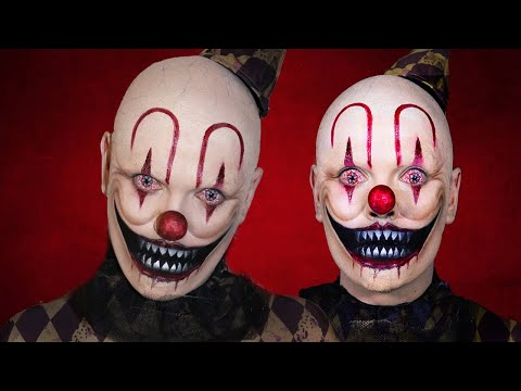 Scary Clown Halloween Makeup Tutorial!