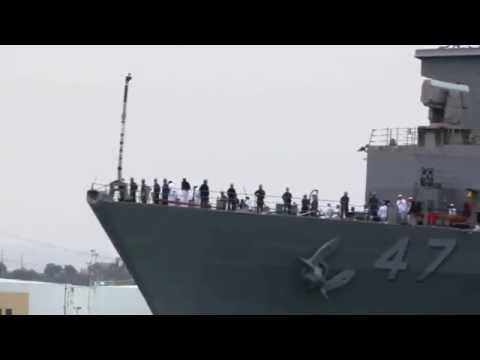 USS Rushmore (LSD 47) departs San Diego for a deployment