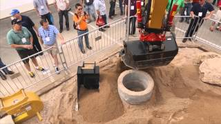Video still for Rototilt: Tiltrotator Demo CONEXPO 2014