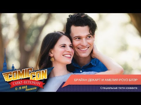 Comic Сon Saint Petersburg 2019 Day 3 - Bryan Dechart And Amelia Rose Blaire