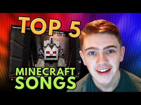 TOP 5 Minecraft Songs of ALL TIME! (Supernatural Mobs, Herobrine, Atlanteans)