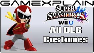 All DLC Mii Fighter Costumes in Smash Bros Wii U