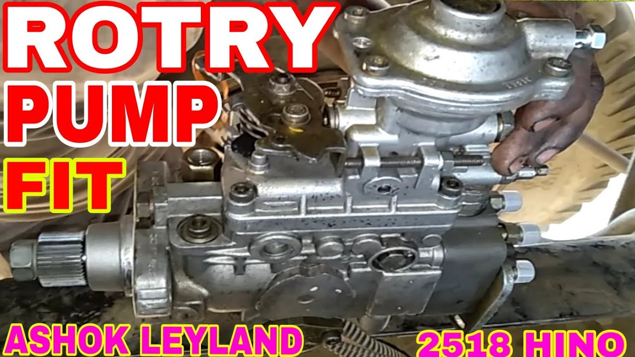 How to pump timming setting & pump fitting ashok leyland 2518 hino engine,