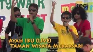 Super 7 Dan Hati Band - Ayah Ibu  Akustik  Di Taman Wisata Mekarsari