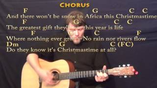Do They Know Its Christmas - Strum Guitar Cover Lessson with Chords/Lyrics