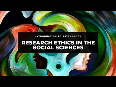 Introduction to Research Ethics in the Social Sciences