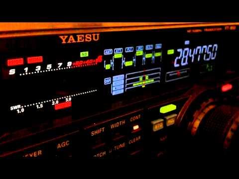 Ham Radio DX QSO D44AC Yaesu FT-950 10 Meters SSB