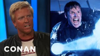 "Jake Busey Remembers Visiting His Dad On The ""Predator 2"" Set  - CONAN on TBS"