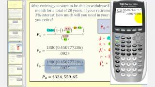 Payout Annuity Formula - Part 1