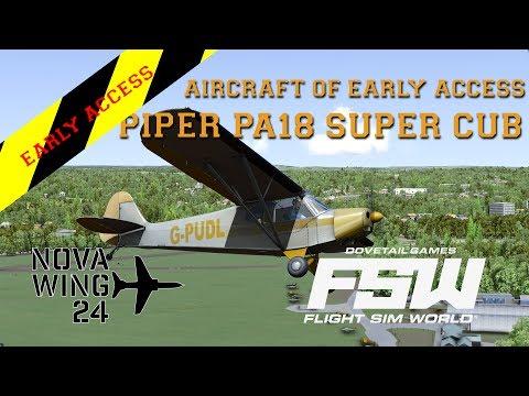 Flight Sim World - Aircraft of Early Access - Piper PA-18 SuperCub