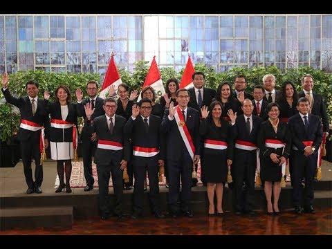 Vizcarra tomó juramento a nuevos ministros, en medio de #crisis institucional y política