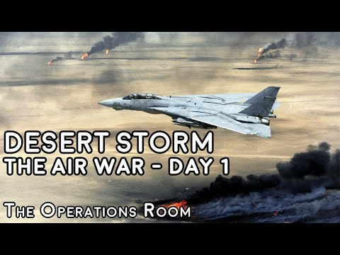 Desert Storm - The Air War, Day 1 - Time-Lapse